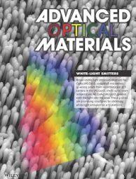 掲載されたAdvanced Optical Materials誌扉絵