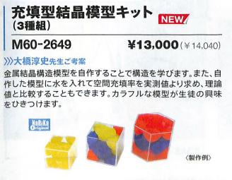 図1 充填型結晶模型キットの写真です