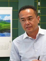 山内孔氏(愛媛県教育委員会)の写真です