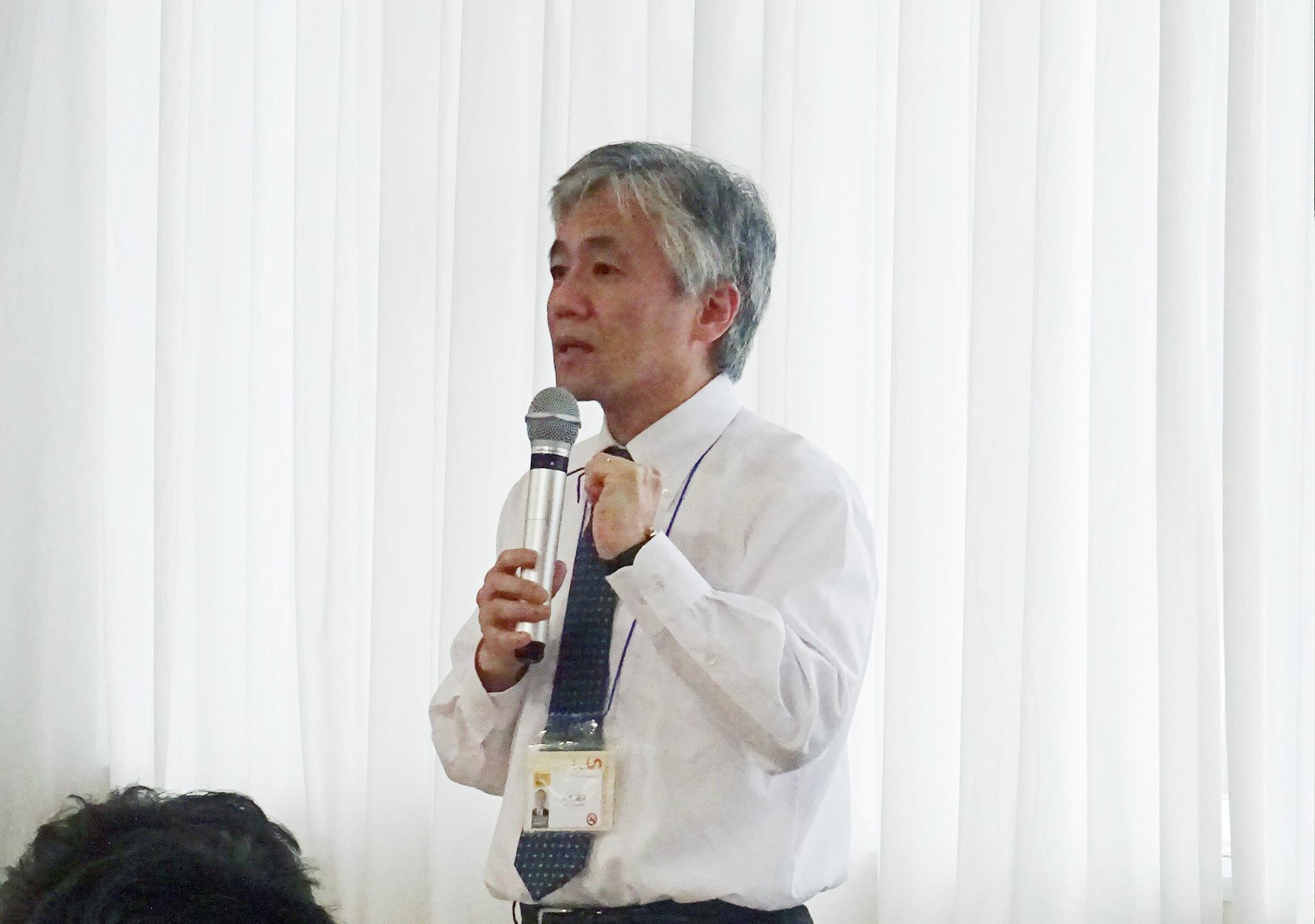 小林学長特別補佐による説明